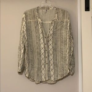 Amuse Society button down blouse